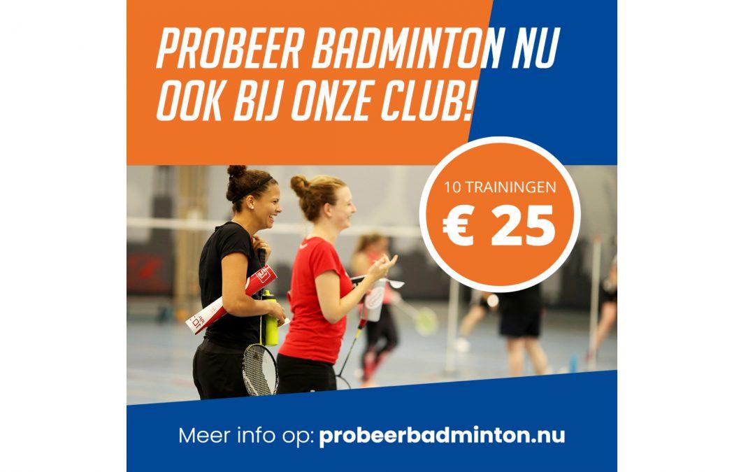 Probeer Badminton